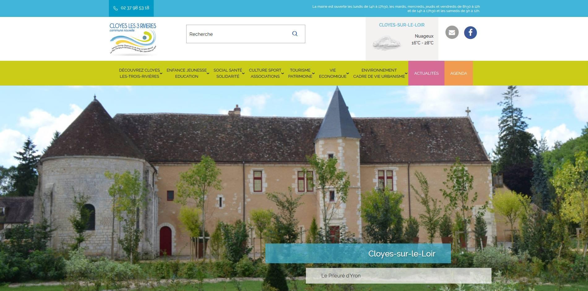 page d'accueil site cloyes les trois rivieres