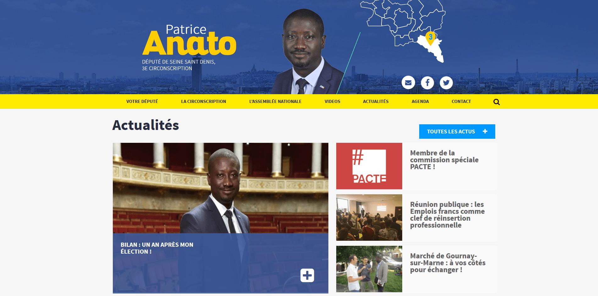 page d'accueil du site patriceanato.fr